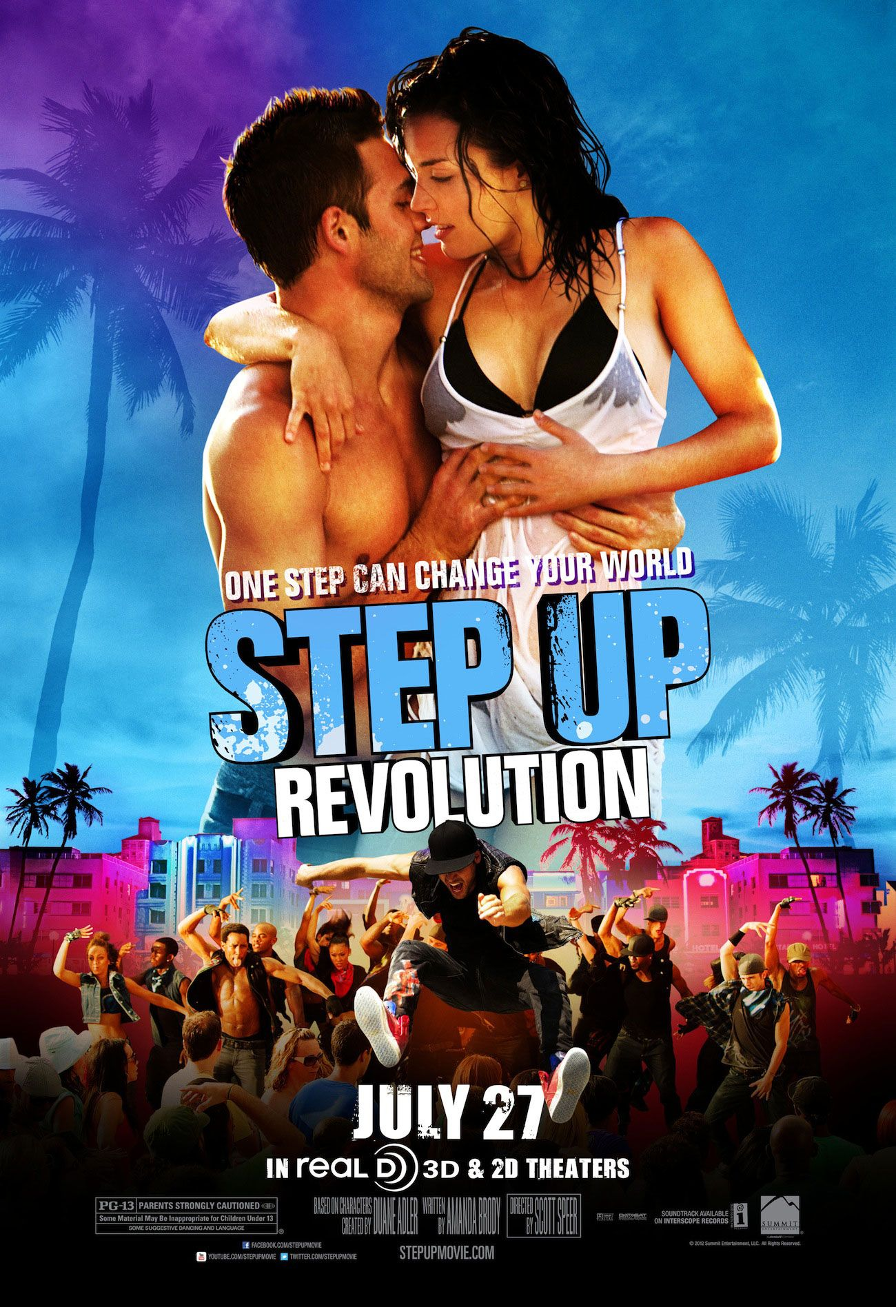 Step Up Revolution Starring Kathryn Mccormick Ryan Guzman Cleopatra Coleman Misha Gabriel Hamilton Emily Arrives In Film Affiche Film Choregraphie Danse