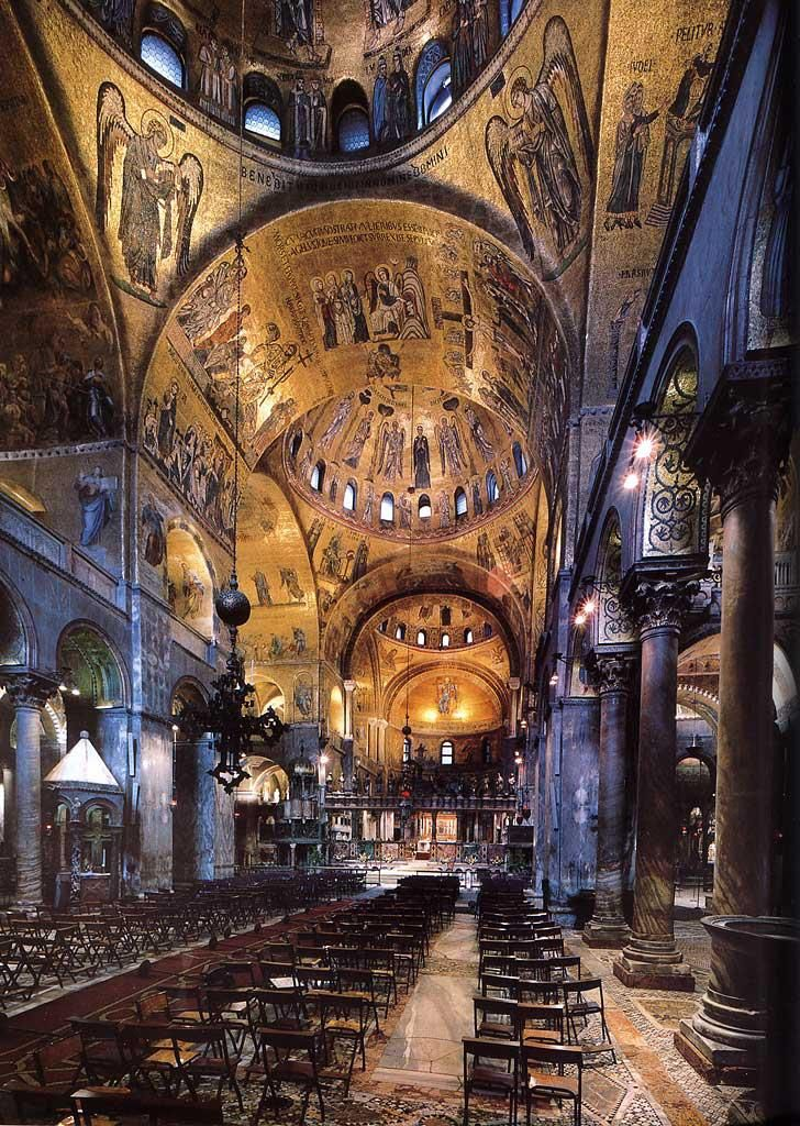 Interior Of Basilica Di San Marco Venice Quite Stunning Venice Italy Places To Visit Italy Travel