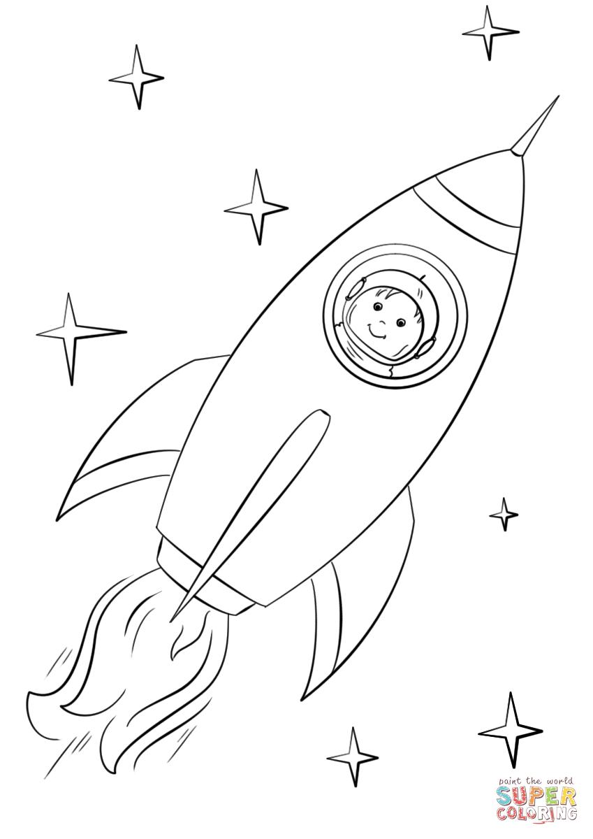 Ausmalbild Boy Astronaut Flying In A Space Rocket Ausmalbilder Kostenlos Zum Ausdrucken Ausmalbilder Jungs Malvorlagen Fur Jungen Ausmalen