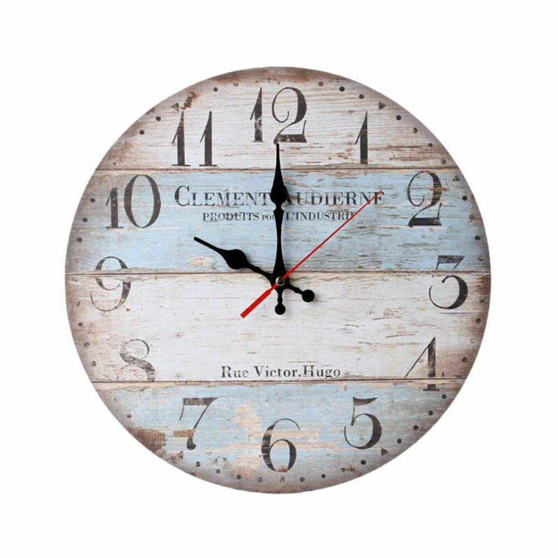 Large Indoor Outdoor Wooden Decorative Rustic Vintage Country Wall Clocks 12 Wood Clock Ideas Wall Clock Wooden Shabby Chic Wall Clock How To Antique Wood
