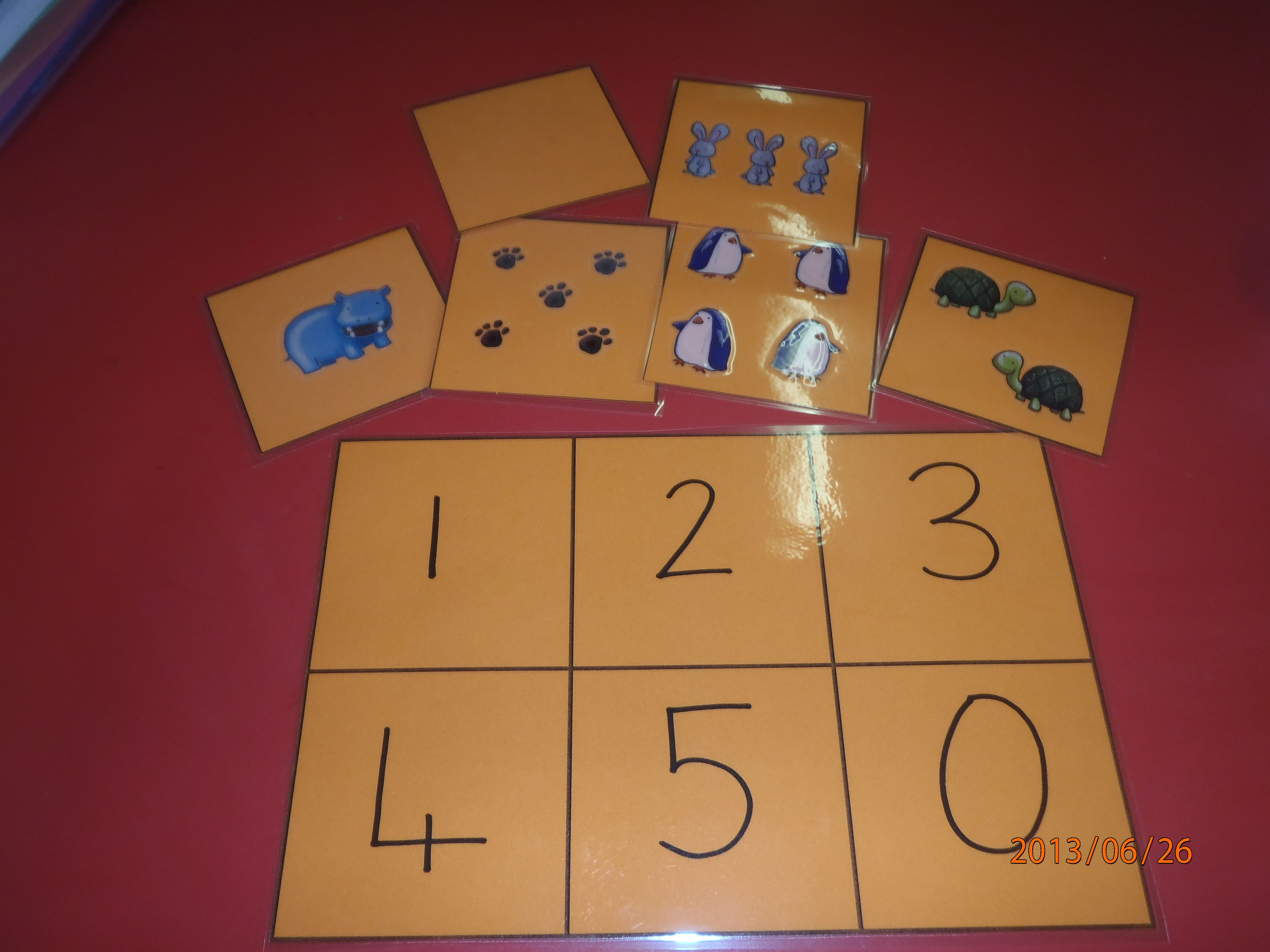 Matching Numbers To Quantities Boards