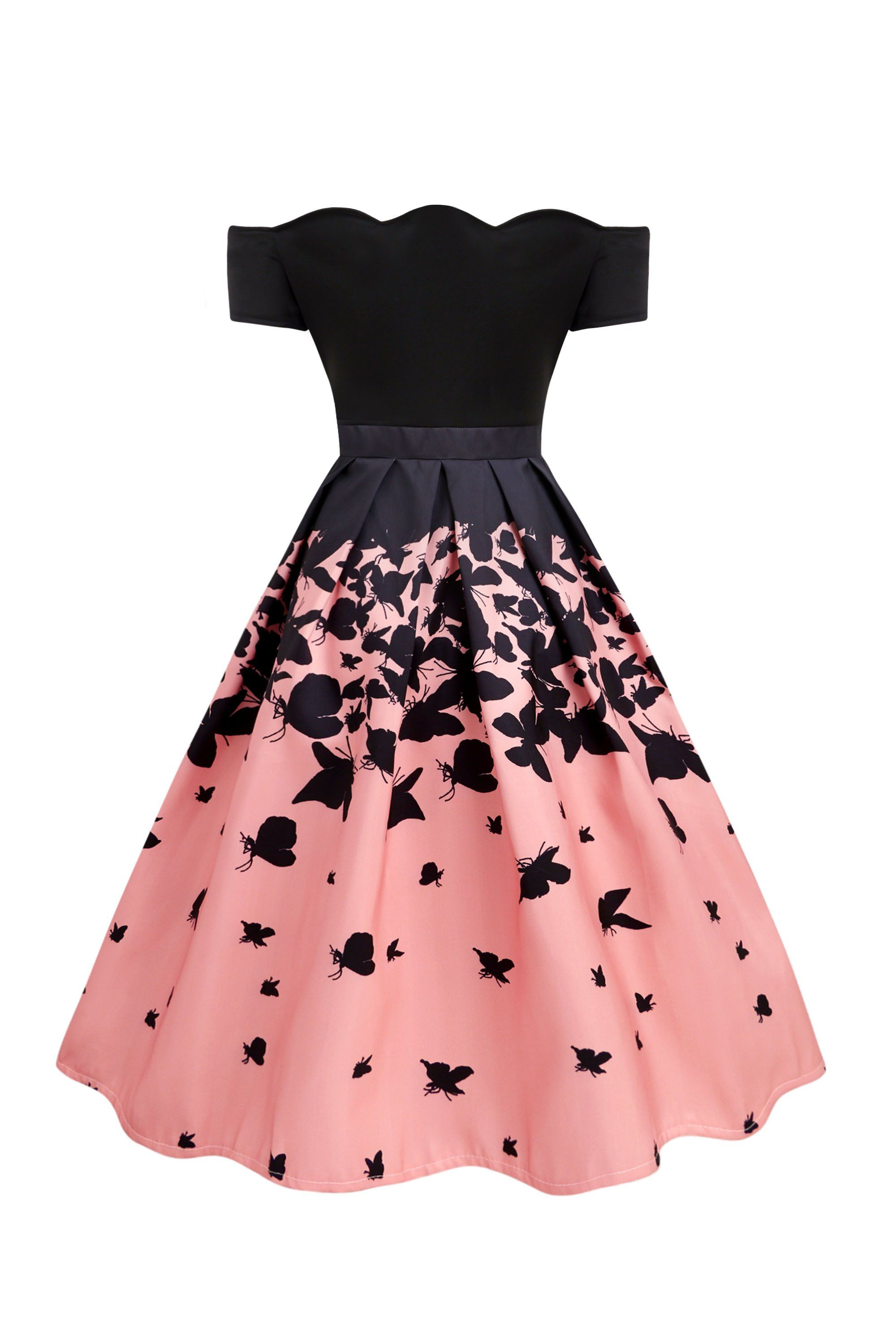 a9363db129ce Black 1950s Butterfly Swing Dress – Retro Stage - Chic Vintage Dresses and  Accessories