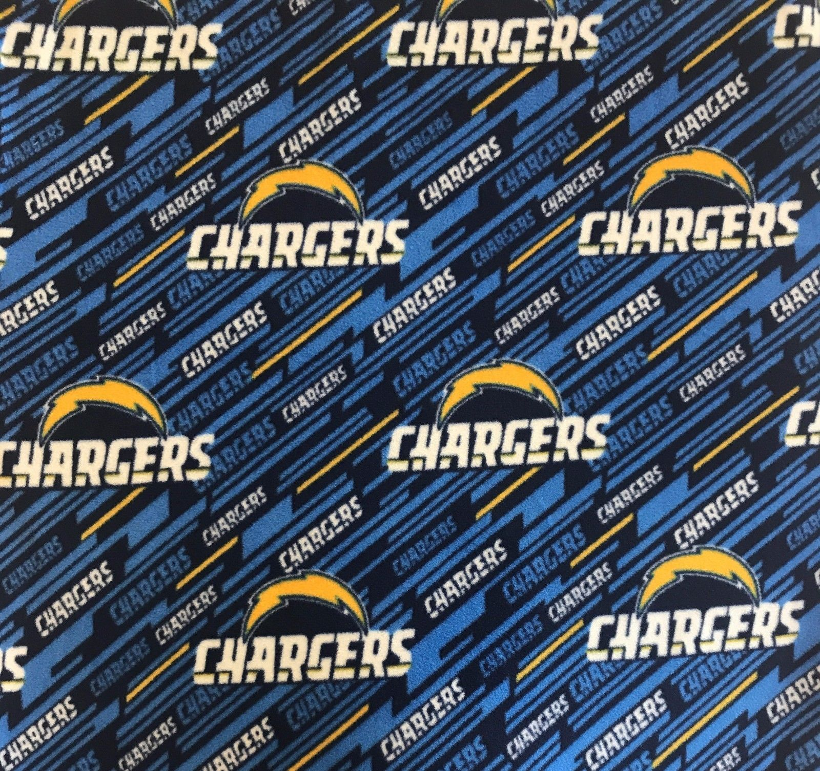 Los angeles chargers fleece fabric sold by the yard products