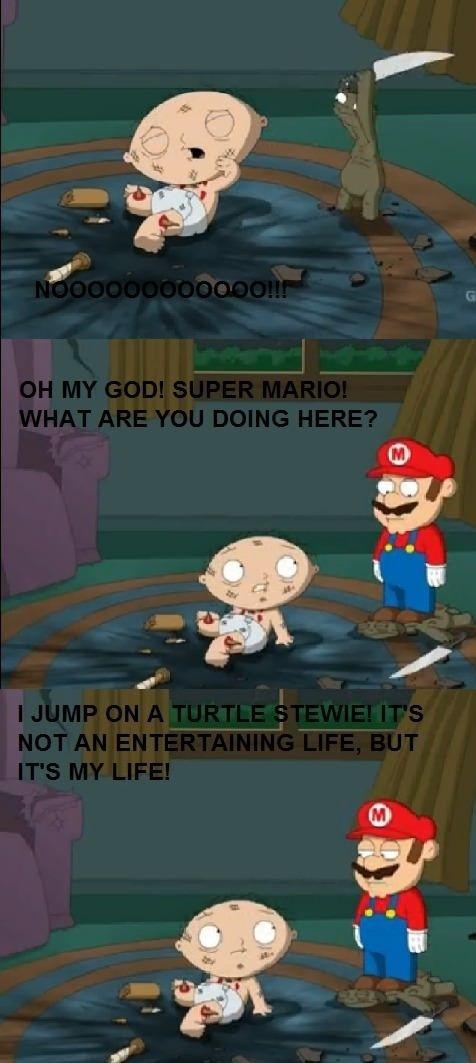 Mario Family Guy Mario's Life   Funny  ...