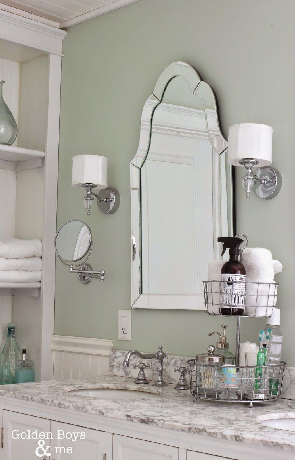 Keepin It Real In Our Master Bath Home Arch Mirror Bathroom Bathroom Decor [ 1600 x 1026 Pixel ]
