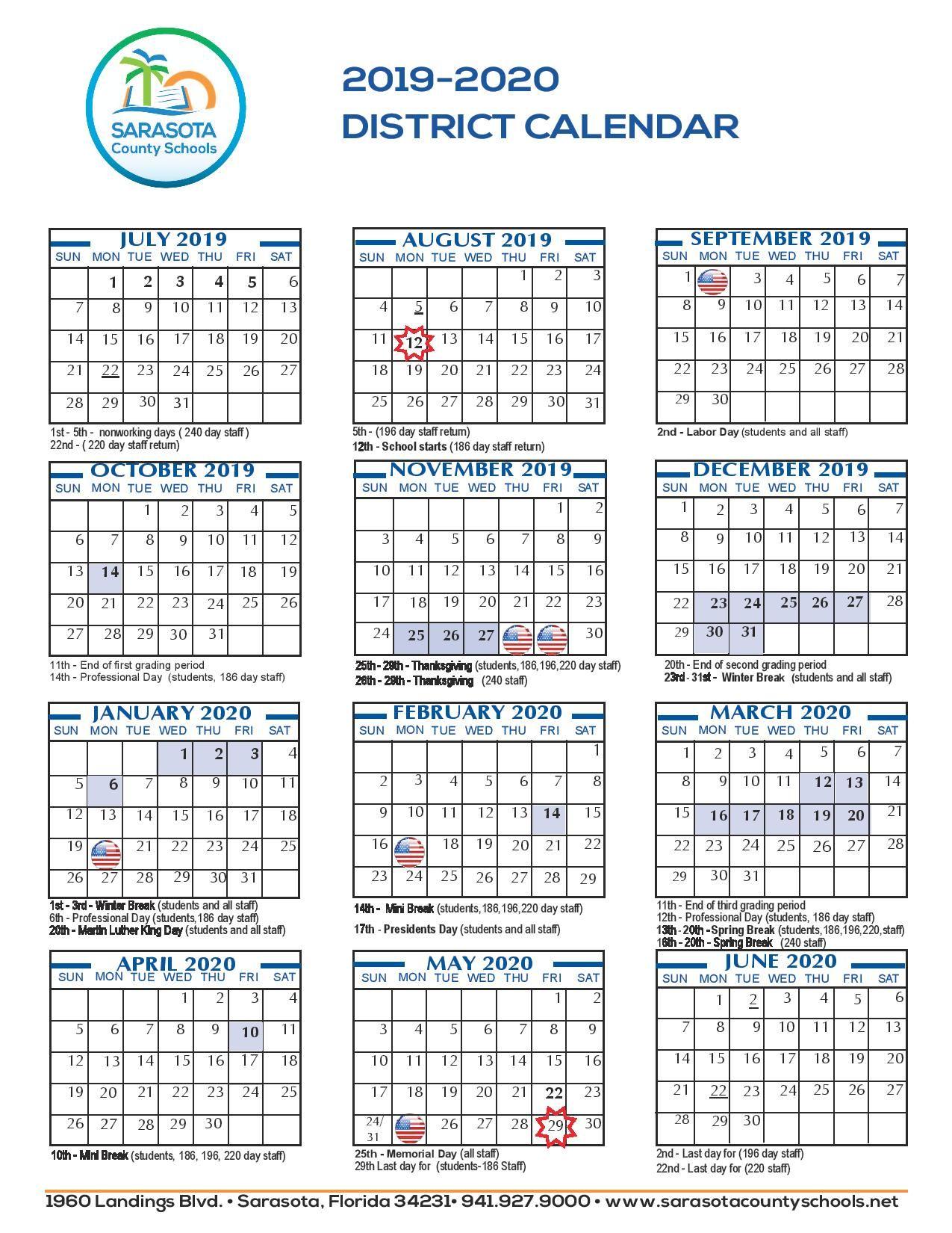 Sarasota County School Calendar Printable Free Download Https Www Youcalendars Com Sarasota School Calendar School Calendar Printables School Calendar Ideas