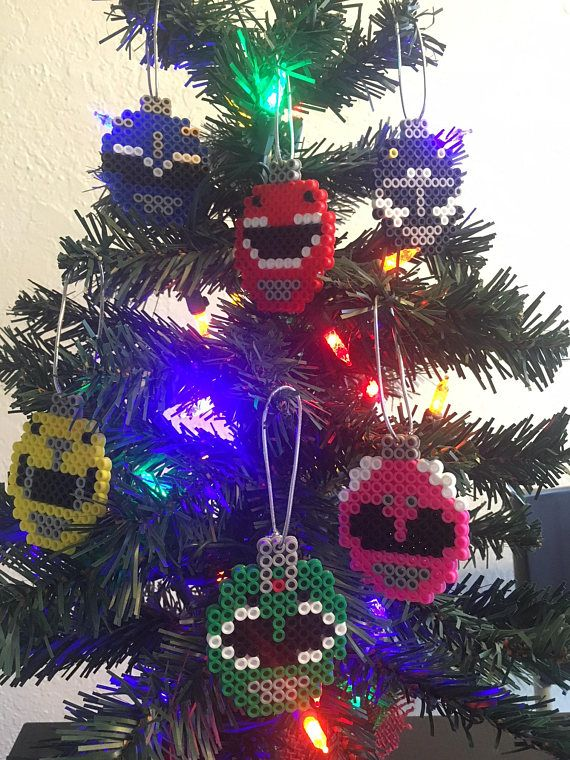 Power Rangers Christmas Tree.Mighty Morphin Power Rangers Christmas Tree Ornament Set
