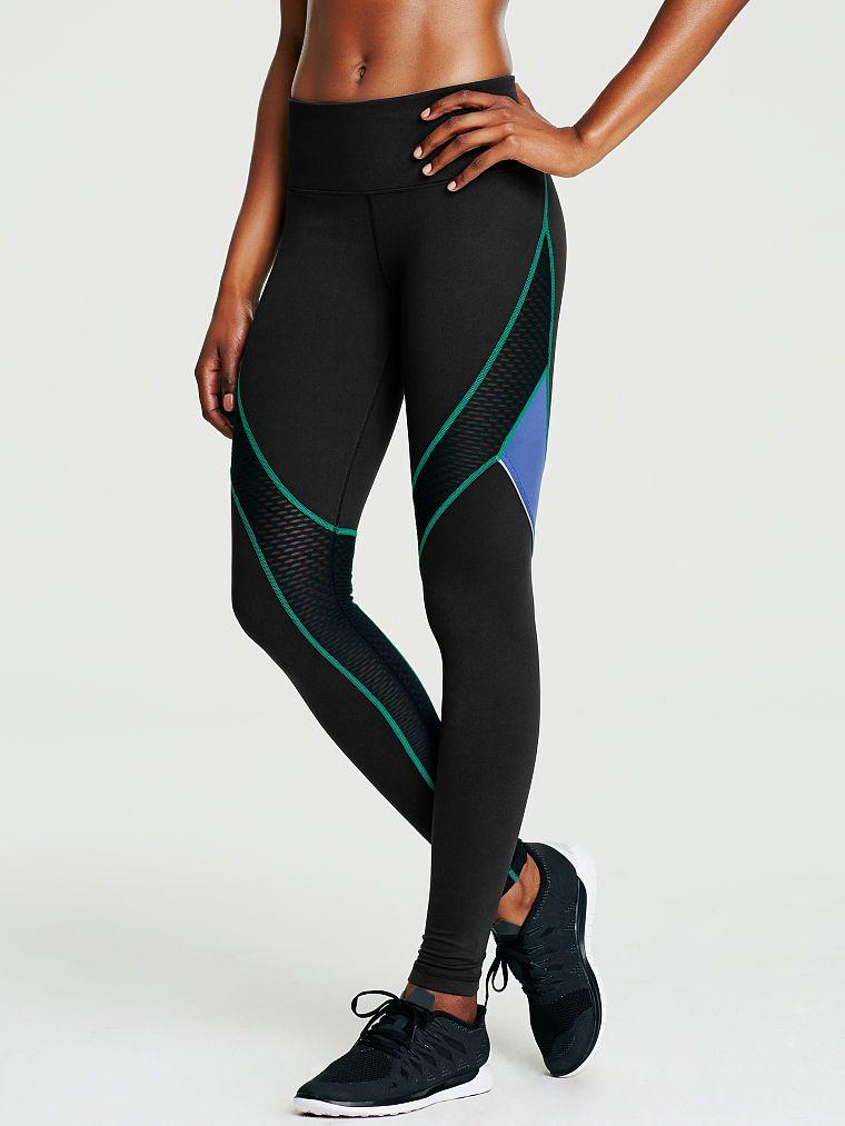 XL Victoria's Secret Sport 7/8 Tight Pants Leggings Black