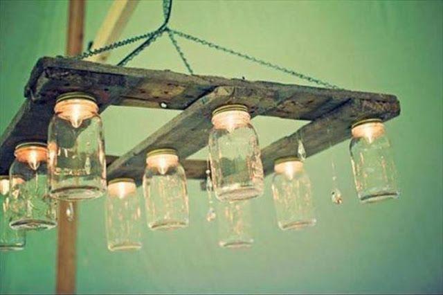 Mueblesdepaletsnet 6 ejemplos de lámparas de techo hechas con