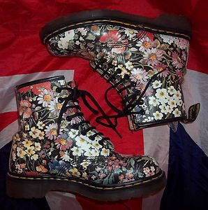 Floral Dr Martens from the 90s