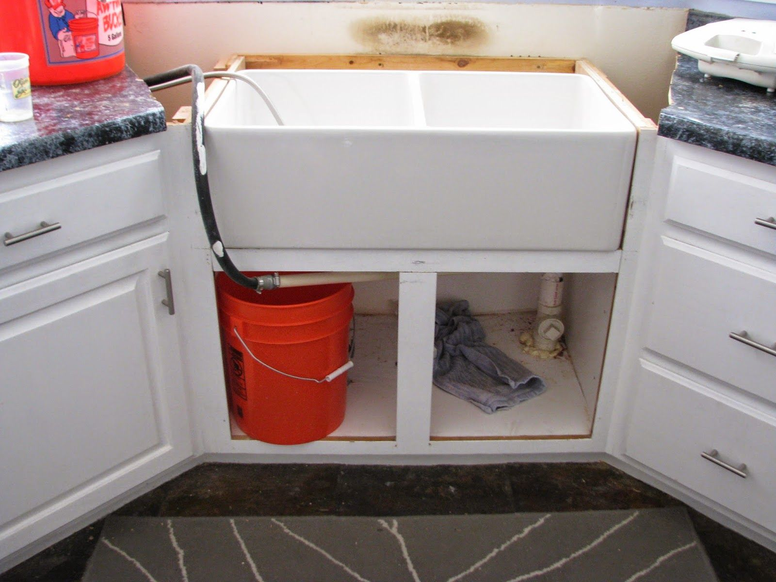 Resize Your Existing Cabinet And Doors To Fit An Apron Front Sink Apron Front Sink Kitchen Sink Diy Cabinet Remodel