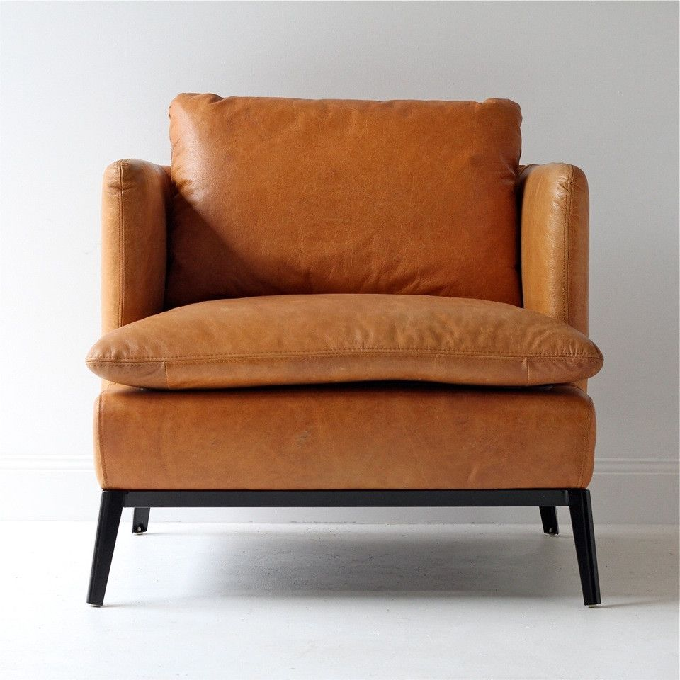 Modern Leather Accent Chairs What Size Aeron Chair Do I Need Gorgeous Armchair In A But Classic Look Love This Piece More