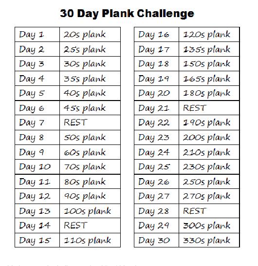 30 day plank challenge google search sport pinterest squat challenge 30 days squat. Black Bedroom Furniture Sets. Home Design Ideas