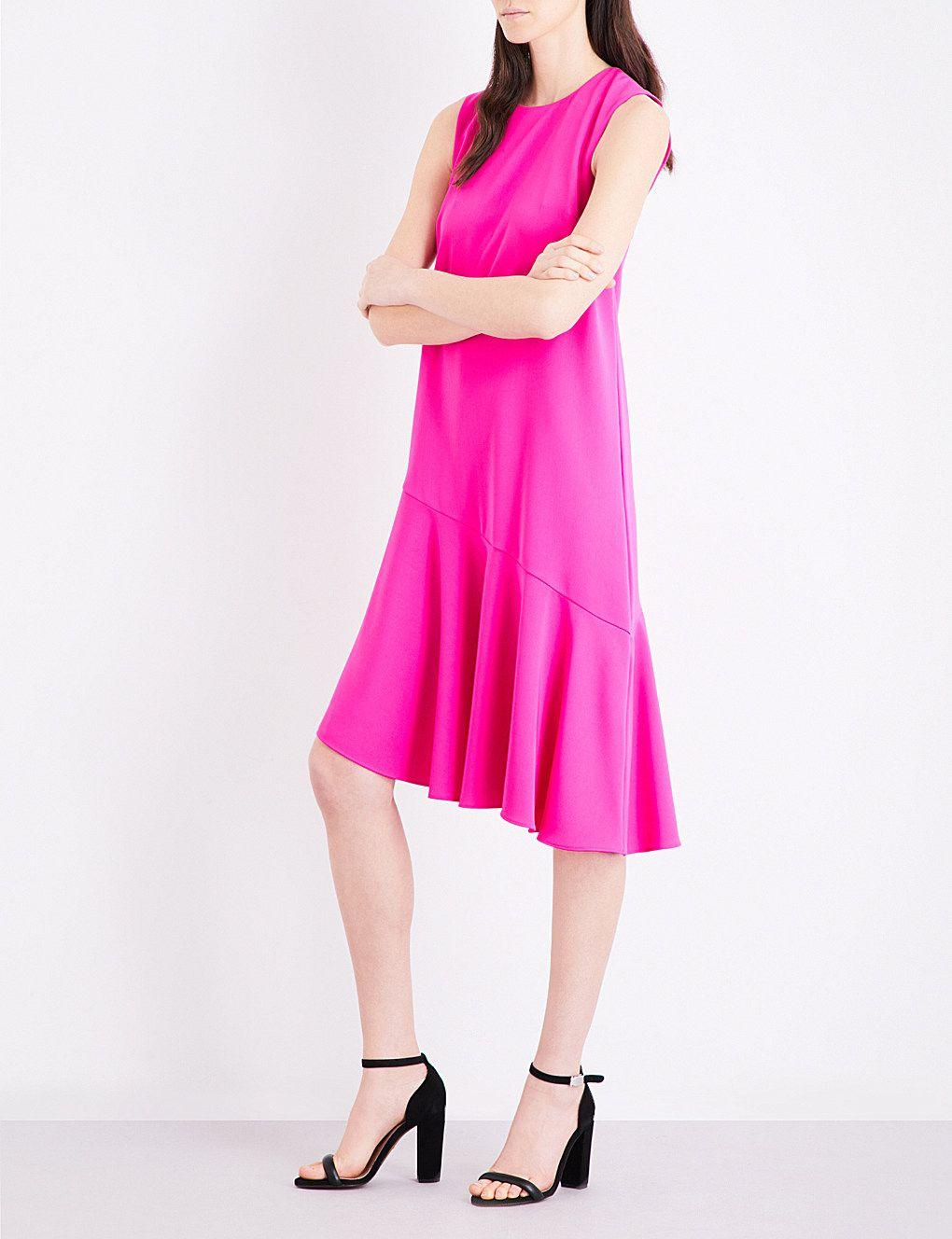 WAREHOUSE Ruffled-hem crepe dress   Moll\'s stuff   Pinterest ...