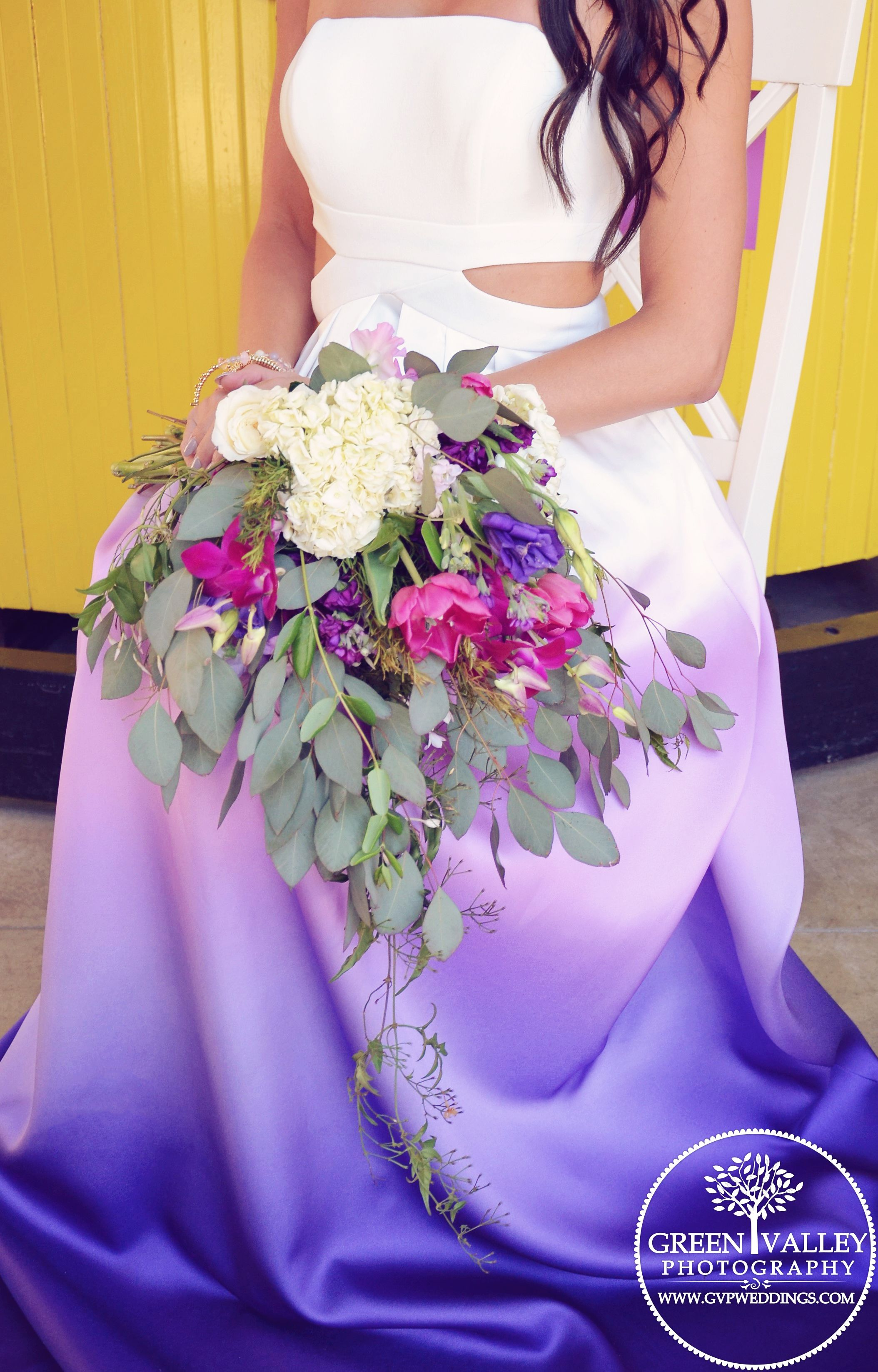 amazing ombre wedding dress, purple ombre dress, ombre wedding dress ...