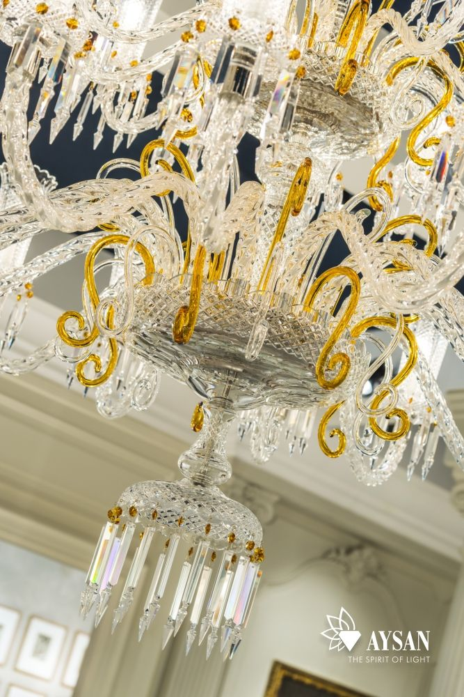 TREVI Chandelier Crystal splendour with amber details. Luxury Home ...