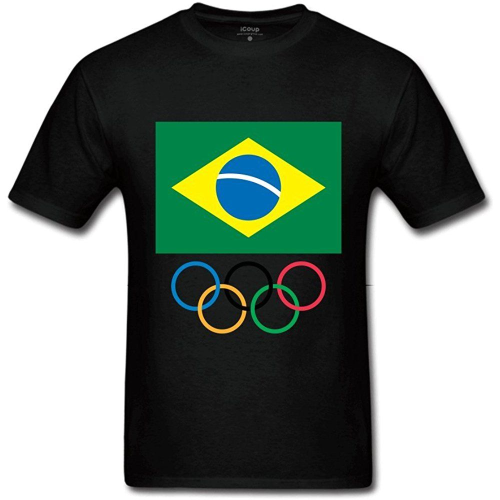 GHT Men's Brazilian Olympic Committee logo Novely T shirts