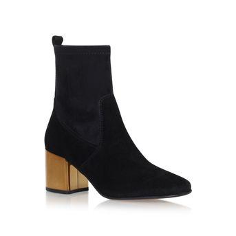 bdd9520aa05 Slick Black Mid Heel Ankle Boots from Carvela Kurt Geiger | STYLE ...