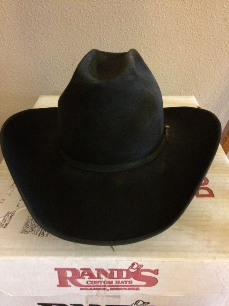 Rands Custom Hat 100X Beaver Felt Western Cowboy Hat size 7 1 4  fashion 456d6c217e6
