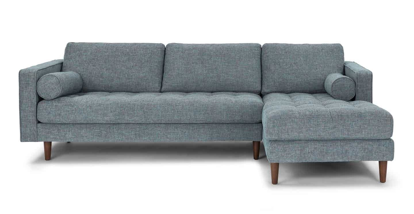 Astounding Article Com Sven Blue Grey Tweed Sofa Sectional Exact Gamerscity Chair Design For Home Gamerscityorg