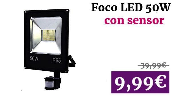 LED 50W Blanco Cálido Foco Proyector con Sensor de Movimiento Lámpara Exterior wolketon LED 50W Blanco Cálido Foco Proyector con Sensor de Movimiento...