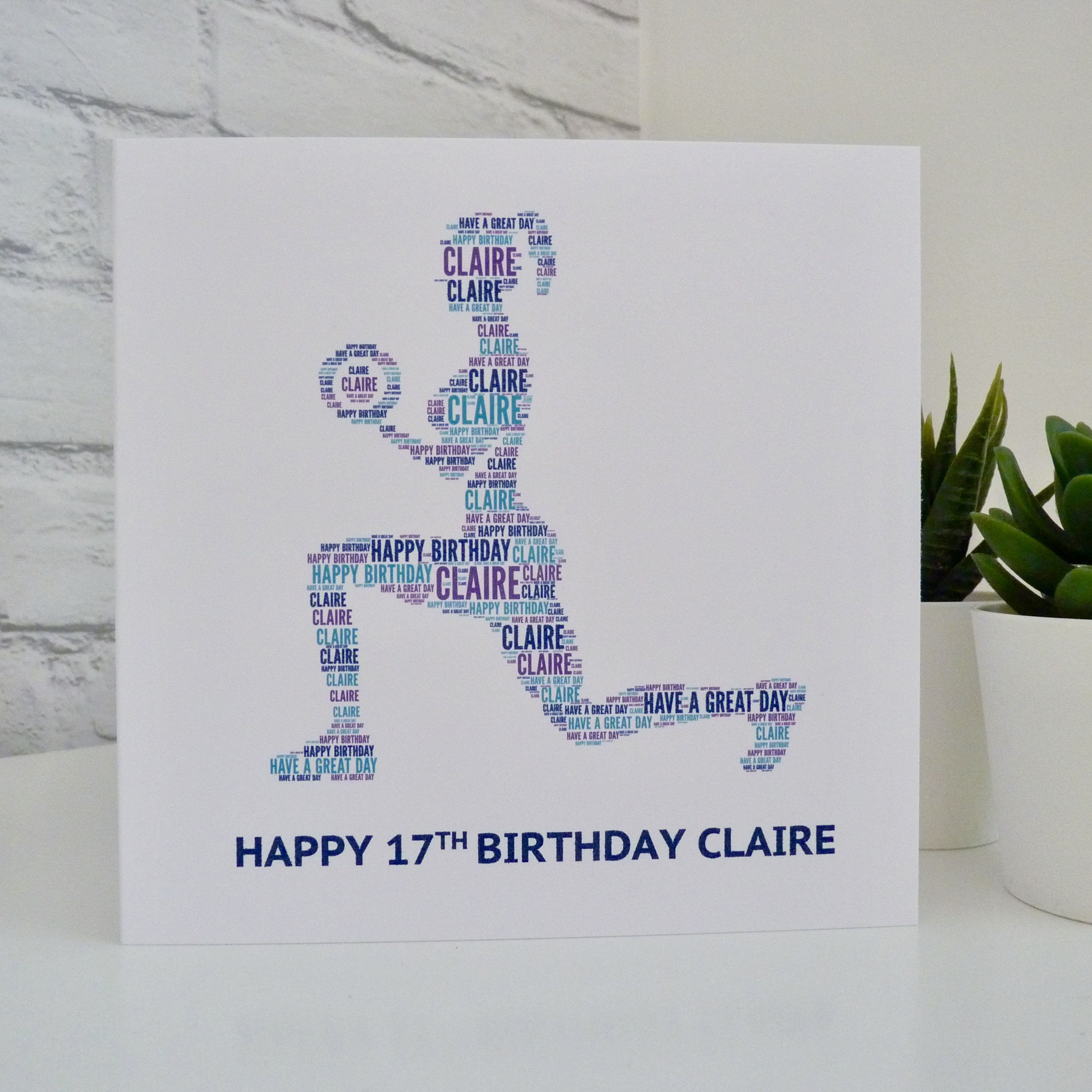 Personalised Womens Gym Fitness Birthday Card Fitness Enthusiast