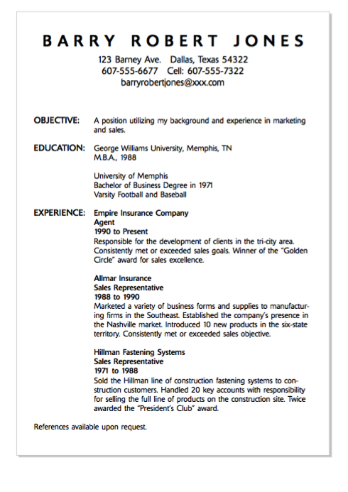 Example Of Agent Resume Http Exampleresumecv Org Example Of