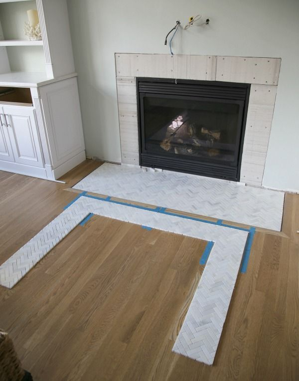 Inspirational Marble Tile Fireplace Surround