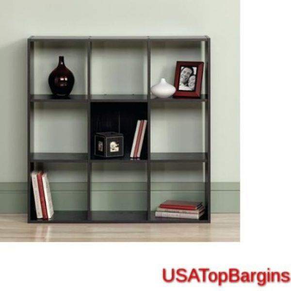 Brown 9 Cube Storage Unit Cubby Organizer Display Closet Bookcase Shelf Box