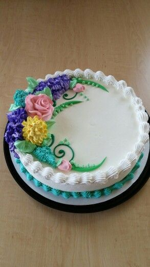 Dairy Queen cake spring floral by Mandy   Queen cakes ...