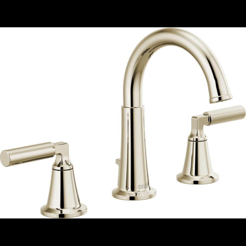 Delta 35548lf Pnmpu Brilliance Polished Nickel Bowery 1 2 Gpm Widespread Bathroom Faucet Wit Widespread Bathroom Faucet Polished Nickel Faucet Bathroom Faucets [ 1000 x 1000 Pixel ]