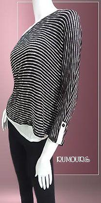 Dos blusas en una (blusa blanca de tirantes con blusa de manga larga en lineas)