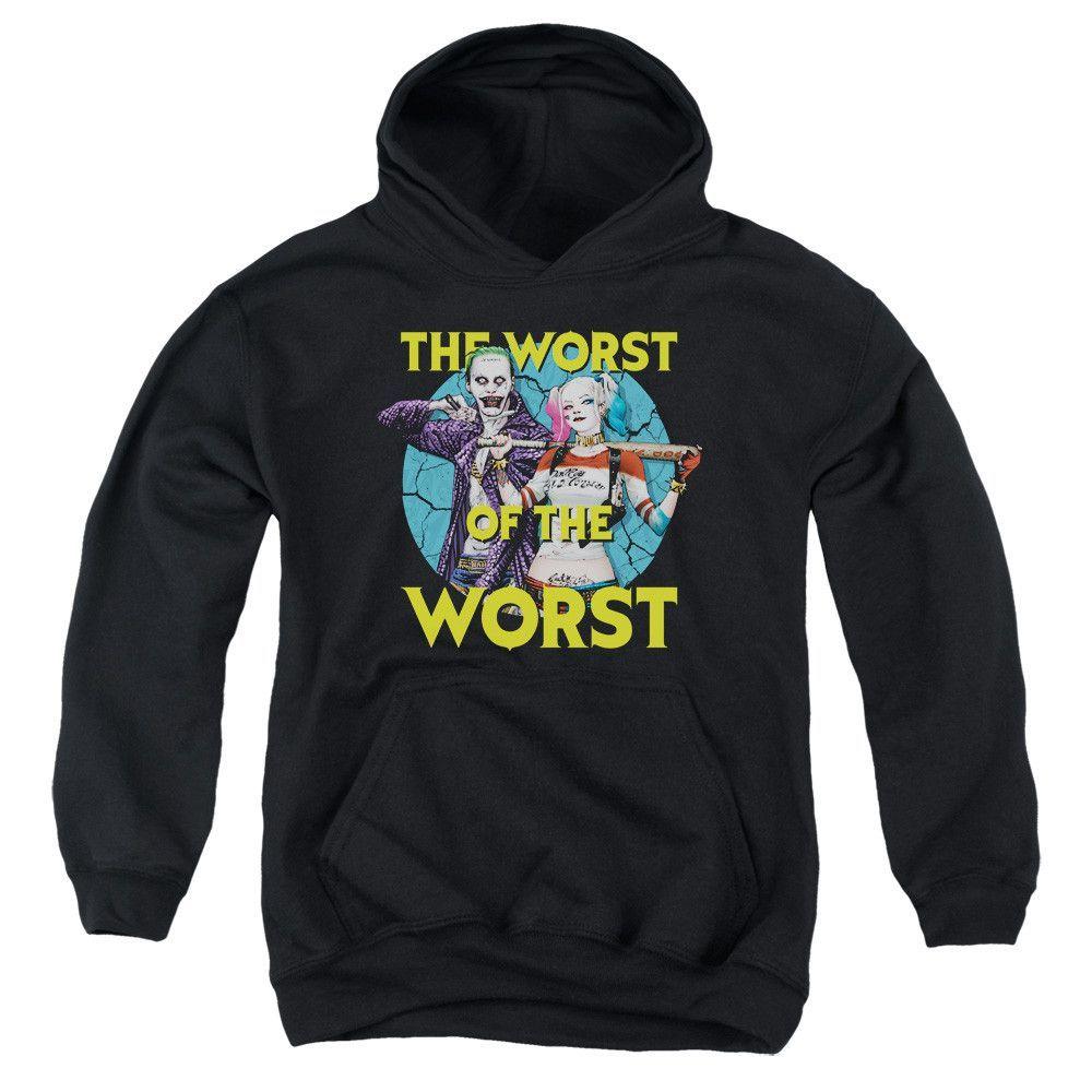 suicide squad worst pair youth hoodie (ages 8-12)   hoodies/crews