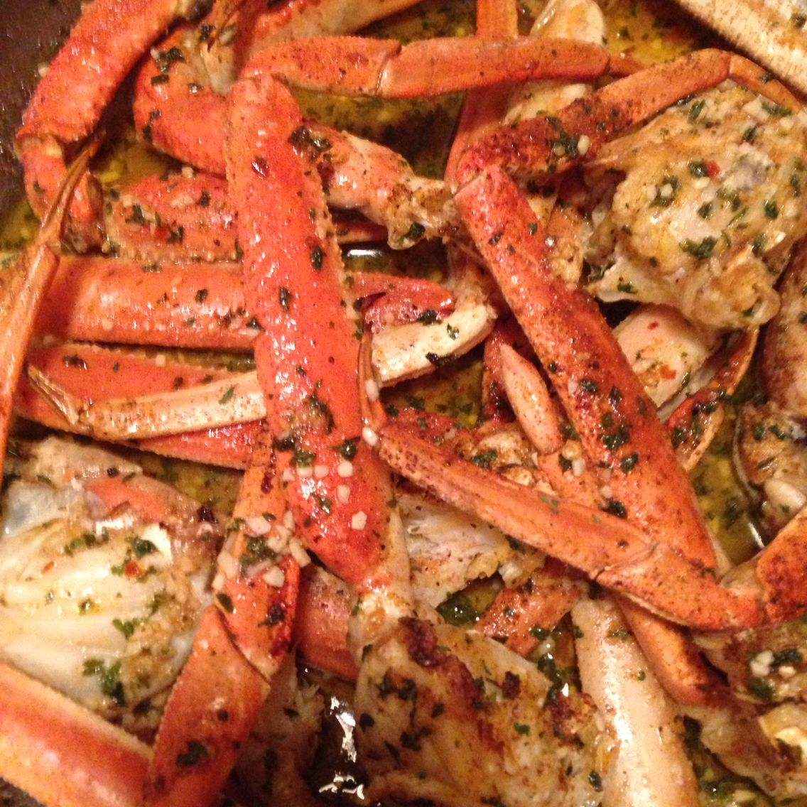 My Spicy Garlic Butter Baked Snow Crab Legs Homestyle Cooking Is