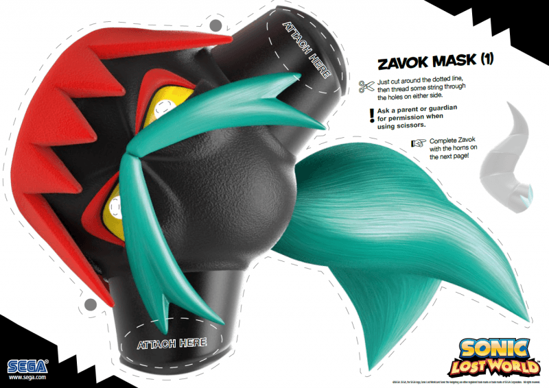 Zavok Mask 01 From The Official Artwork Set For Soniclostworld On Wiiu 3ds And Pc Http Sonicscene Net Sonic Lost World Classic Sonic Sonic World