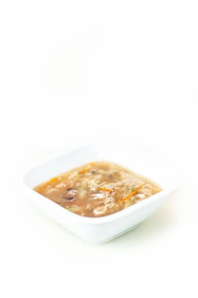 soybean soup top view with white background