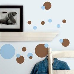 Do you need ideas on using polka dot decals to decorate your walls? On this page you'll find polka dot self-stick wall decals (in lots of colors),...