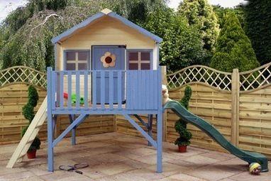 Children's Wooden Playhouse  #giftideas #gifts #kids