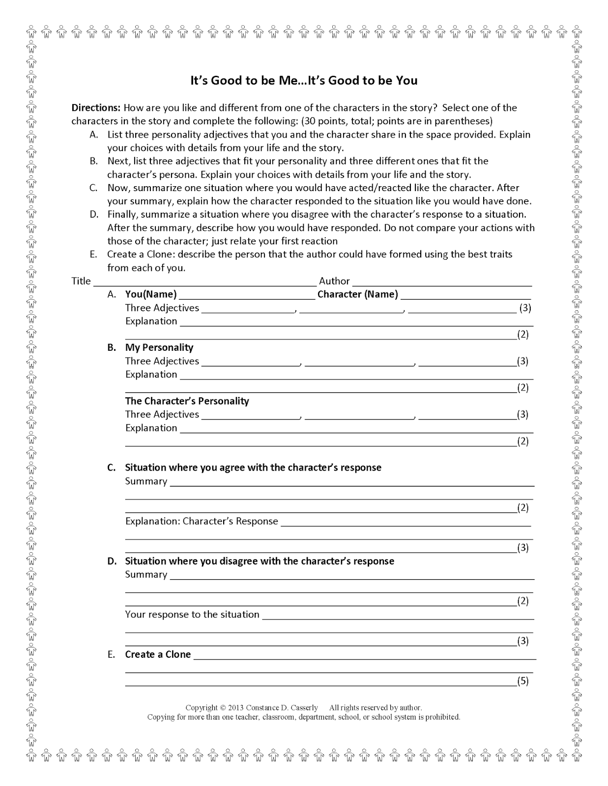 Getting To Know You Student Worksheet