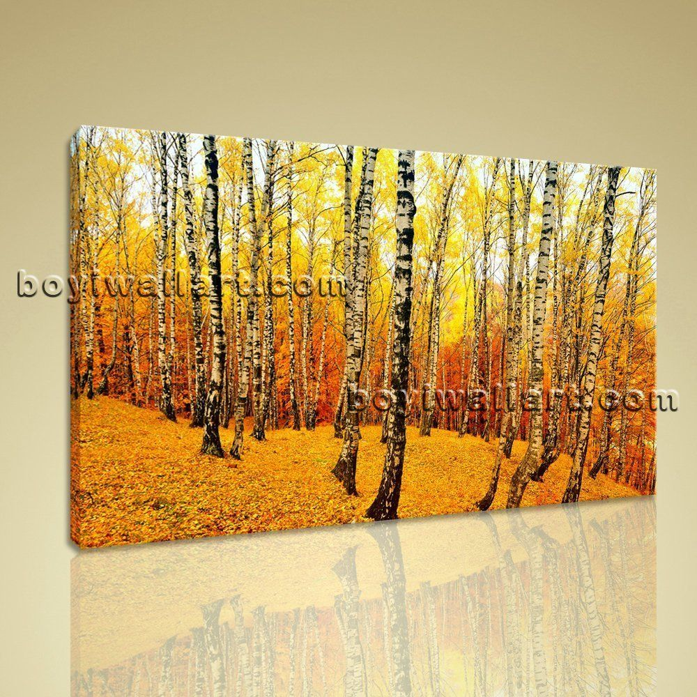 Contemporary home decor large wall art canvas print landscape forest