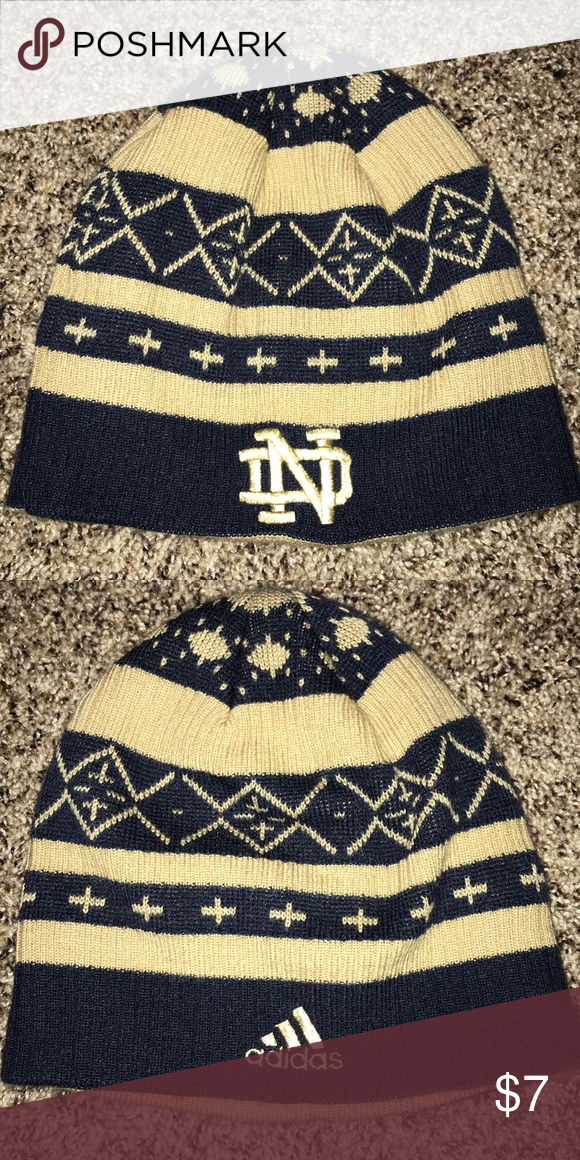 d1d8a4032447 Notre Dame Fighting Irish Adidas Winter Hat Beanie Very nice