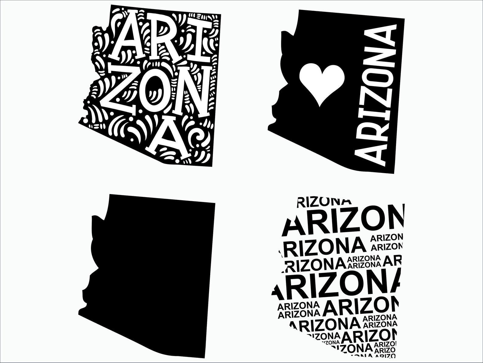 Arizona Svg Arizona Clipart Arizona State Svg Cricut Etsy Clip Art Svg Cricut