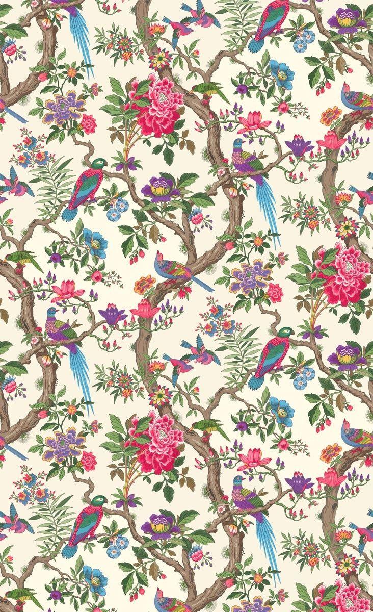 Papier Peint Fontainebleau Cole And Son Floral Wallpaper Pattern Wallpaper Chinoiserie Wallpaper