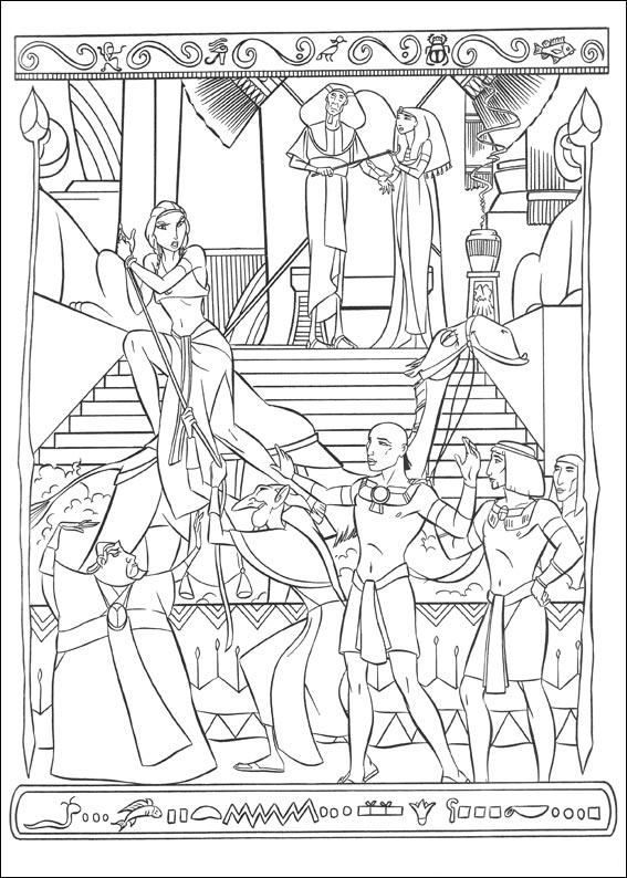 The Prince Of Egypt Prince Of Egypt Coloring Pages Bible Drawing