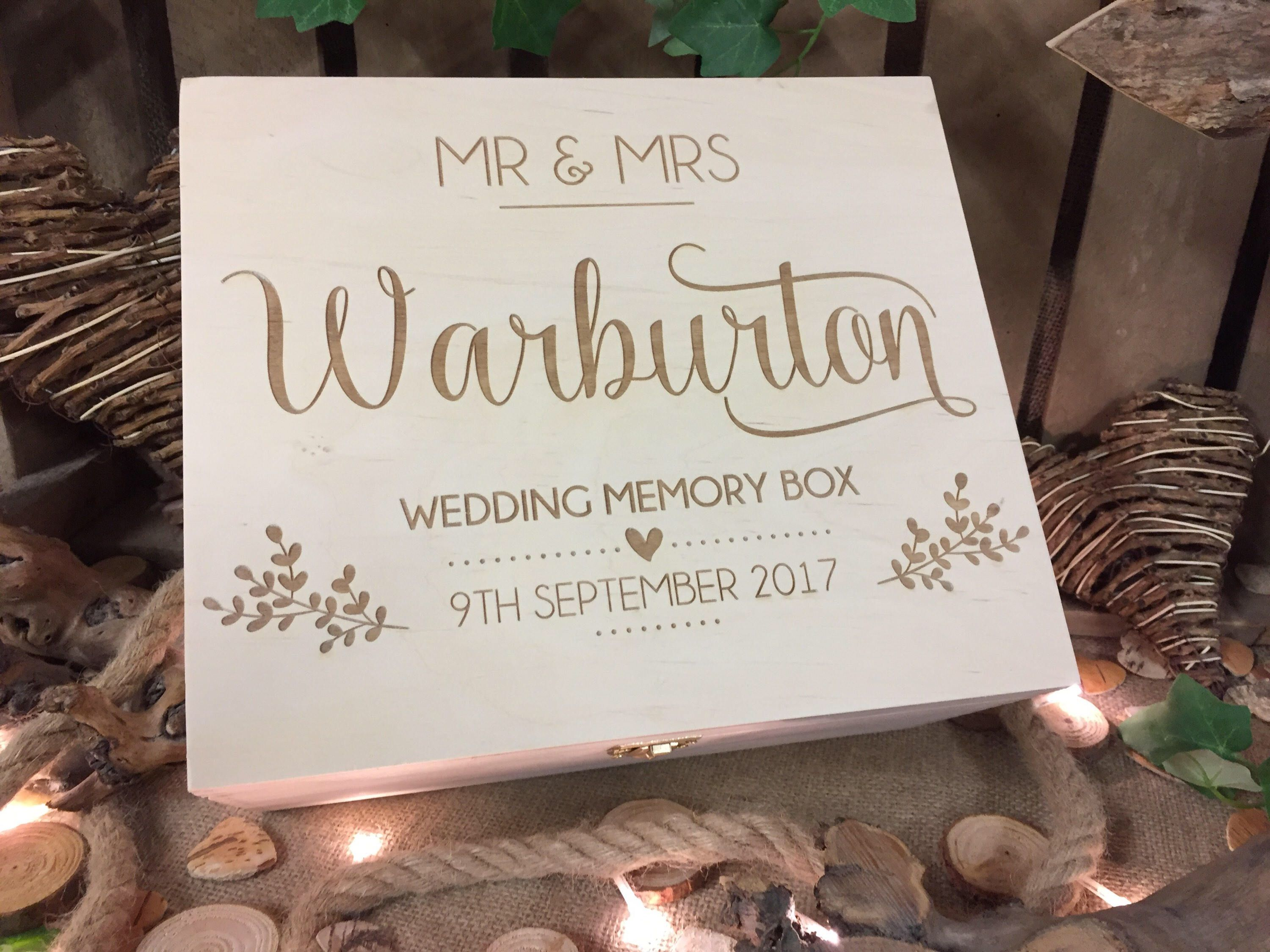 Rustic Wedding Gift Wedding Memory Box Wedding Gift Wooden
