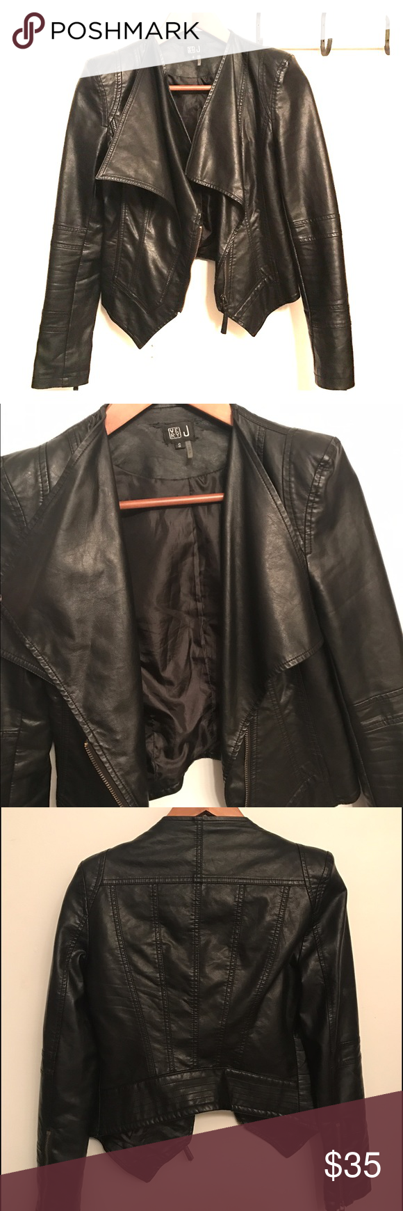 Faux leather jacket One of my favs that goes with everything and is a must have. Selling only to make room in my closet. Very J Jackets & Coats