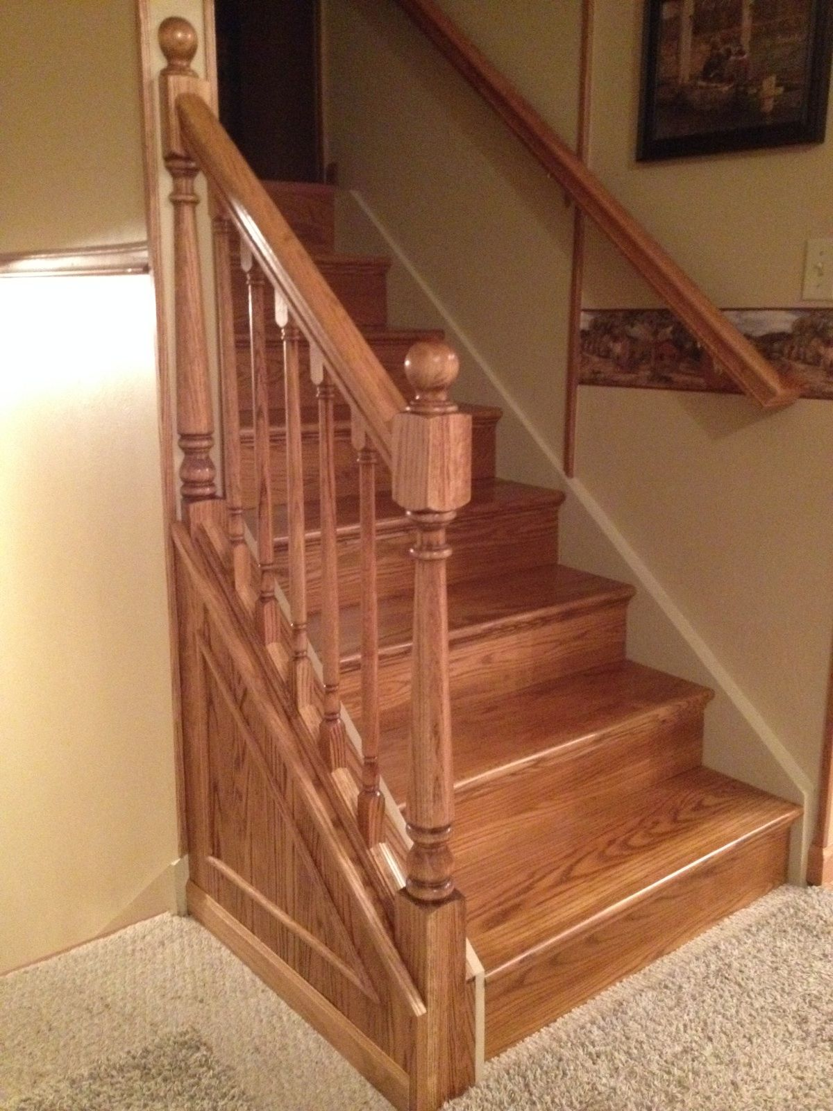 From carpet to hardwood in just 1 day wood stair treads