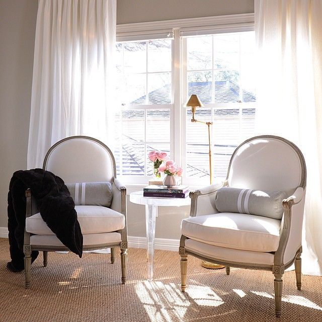 Best Chic Bedroom Sitting Area Features A Pair Of French Accent 400 x 300