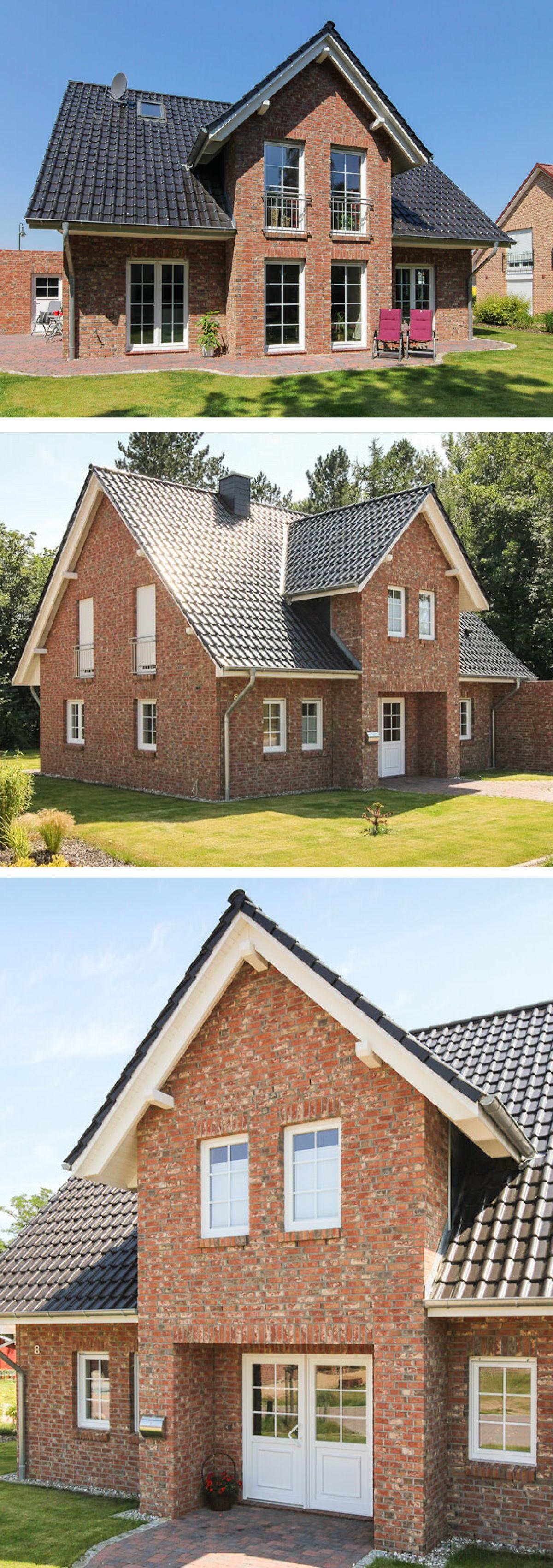 Einfamilienhaus Mit Klinker Fassade Garage Satteldach Architektur