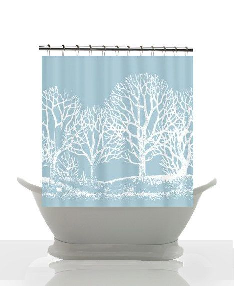 Pin By Ticketytwo Ticketytwo On My Bathroom Curtains Shower Curtain Winter Shower